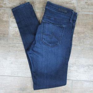 AG Jeans The Farrah Skinny High Rise Dark Wash